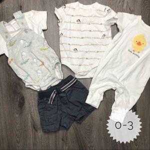 GYMBOREE   sz 0-3 mo set of 3 outfits